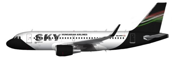 Sky Hungarian Airlines Airbus A319-112 HA-PFF