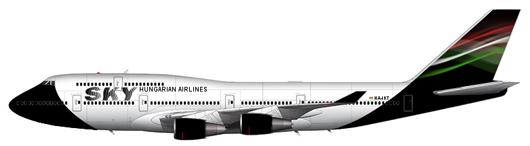 Sky Hungarian Airlines Boeing 747-400ER HA-JKV
