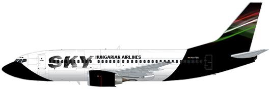 Sky Hungarian Airlines Boeing 737-500 HA-FEG