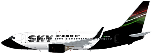 Sky Hungarian Airlines Boeing 737-700 HA-TOQ